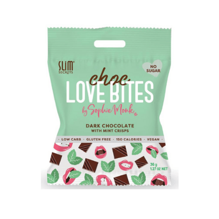Choc Love Bites - Dark Chocolate with Mint Crisps