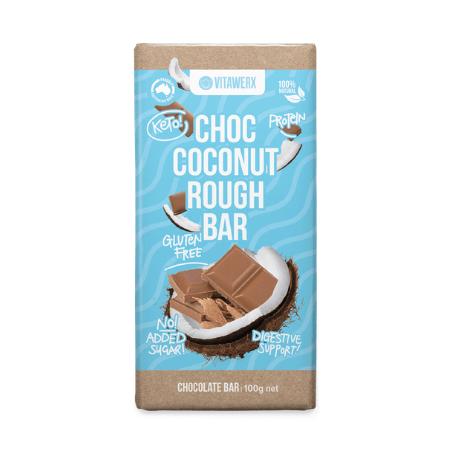Vitawerx White Choc Coconut Rough Block 100g