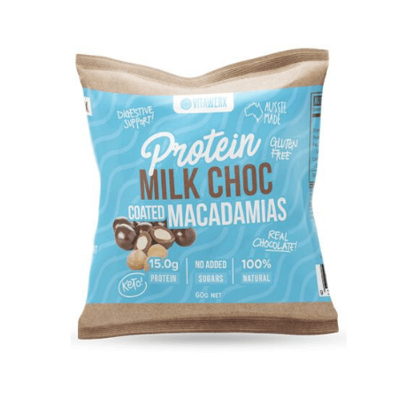 Vitawerx Protein Milk Choc Coated Macadamias