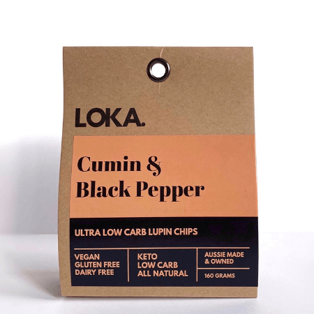 Loka Low Carb Chips Cumin & Black Pepper