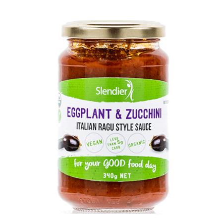 Slendier Eggplant and Zucchini Italian Ragu Style Pasta Sauce