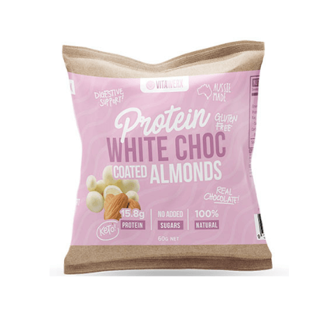 Vitawerx Protein White Choc Coated Almonds