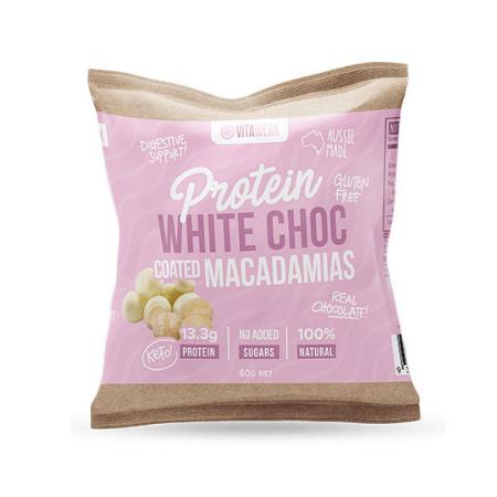 Vitawerx Protein White Choc Coated Macadamias