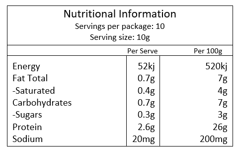 Beef & Tomato Soup Nutritional