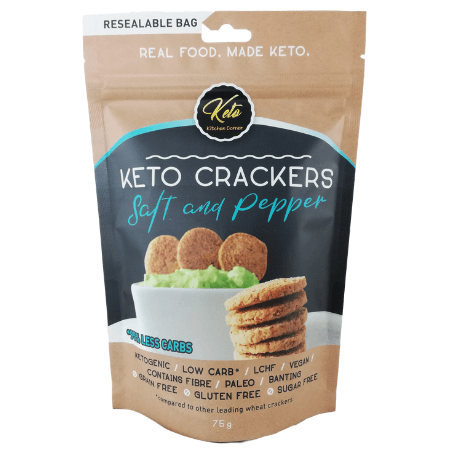 Keto Crackers Salt & Pepper - Keto Kitchen Corner