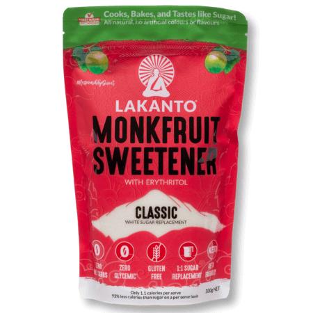 Lakanto MonkFruit Sweetener Classic 500g