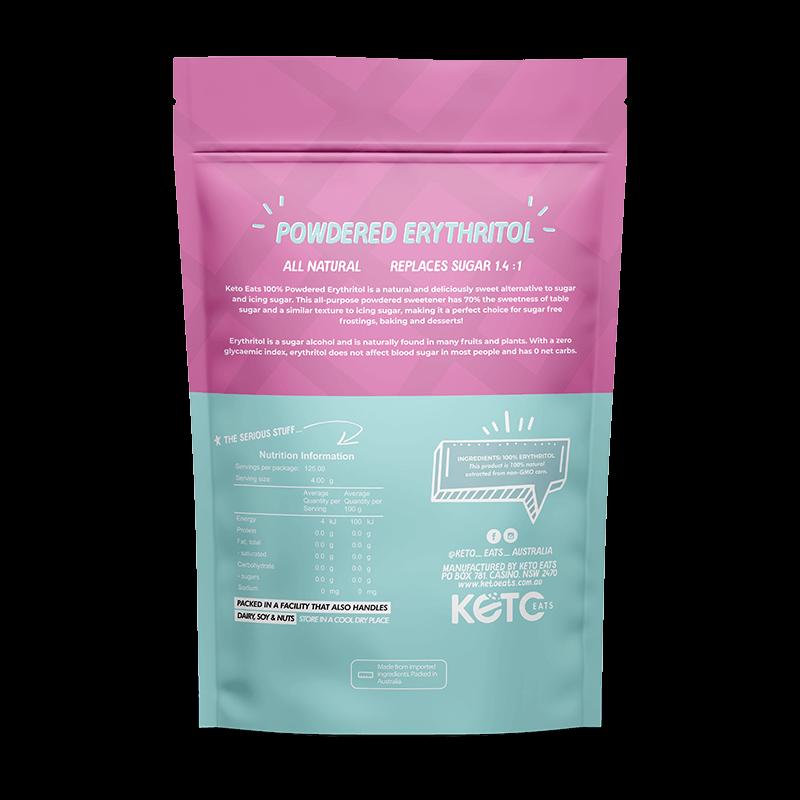 Keto Eats Powdered Erythritol